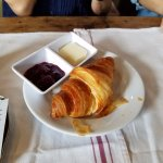 Croissant, Great Jam and butter