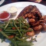Blackened seafood dinner