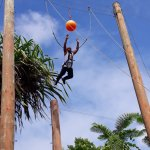 Leap of faith by a team member from Packleader Pacific