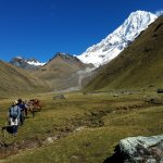 Big Willey coming down from Salkantay with horseman.