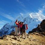 Our family on Salkantay Saddle
