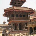 Ongoing repairs in Bhaktapur Durbar Square.
