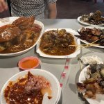 Chilli crab , BBQ chicken wing