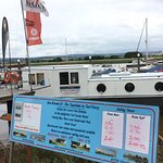 Took the Topsham/ Turk small ferry over the River Exe to the Exeter canal for lunch.