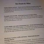ice cream and wine pairing menu