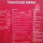 Tea House Menu