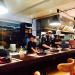 The open kitchen at Fade Street Social