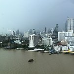 Deluxe room view across Chao Phraya River