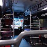 バス内部 自分でバゲージ搬入