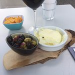 olives and cheese and tortilla chips to start