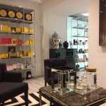 Customer reception area and beauty shop