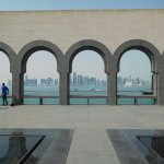 Doha as seen from the Isalamic art courtyard