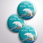 Pier Hotel Pin Badges 2017
