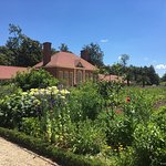 The garden with the hot house and slave dormitories behind