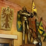 Suit of armour in the dining hall