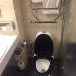 What type of place has a mismatched toilet at $460 USD a night?