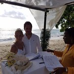 beach wedding (Beau Vallon Beach)