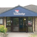 Main Entrance - Ely Travelodge - from the Car Park