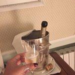 Nossa champagne geladíssima.