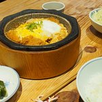 This is the katsudon set. Very reasonable and well priced.