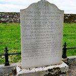 Family grave in churchyard opposite