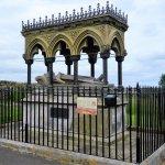 Grace's memorial in churchyard opposite