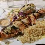 the seafood souvlaki. As good as it looked.