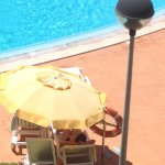 The brolly is secure but you might not be saved if you were struggling in the pool!!