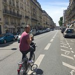 Olivia guiding us through the streets of Paris..