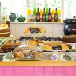 Homemade organic cakes in the Tearooms