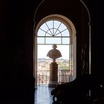 This is a view of Rome through one of the open windows in the Vatican museums