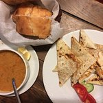 Patate Gozleme & dal Corba with Bread