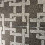 Torn carpeting