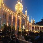 Stunning hotel by night