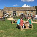 Traditional Cotswold barn cafe serving Cotswold fare