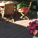 Relax on our lovely, shady side patio