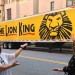 Pretty cool to see The Lion King trailer right behind the Peace Center!