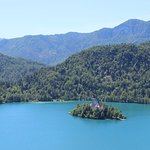 Lake Bled is a short walk from Penzion Kaps.