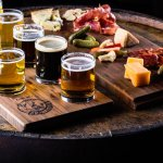 Charcuteria and cheese plate, and our all-taste flight!