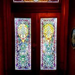The stained glass in the front door to welcome you!