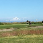View of Mount Baker walking down the 9th