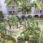 View of the courtyard from our balcony. Just gorgeous! And there are lots of different seating o