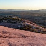 Enchanted rock is made up of pink granite, which makes for interesting pictures.