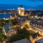 Château Frontenac and Old Québec by night