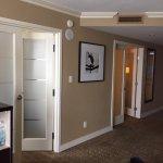 2 bedroom suite, frosted double doors to each bedroom.