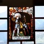 kunstvolles Glasfenster