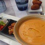 Gazpacho and croquettes al jambon