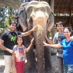 A click with the elephant after the ride...