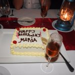 The climax to an amazing Dining by Design birthday dinner - pesonalised cake!!