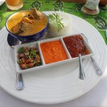 Our favourite fish curry at the beach deck at lunchtime